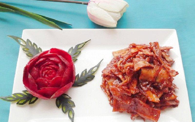 Cách làm Mực Rim Me chua ngọt, màu rim đẹp mắt, hấp dẫn