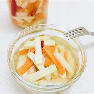 Cách làm su hào muối chua giòn