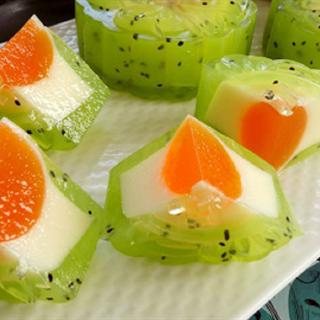 Cách làm bánh trung thu thạch phô mai kiwi