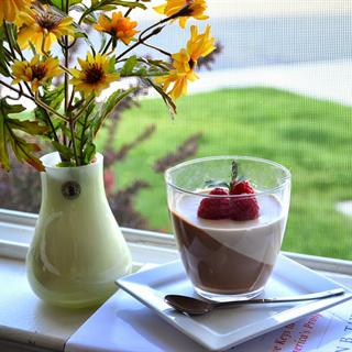 Panna cotta chocolate & cà chê