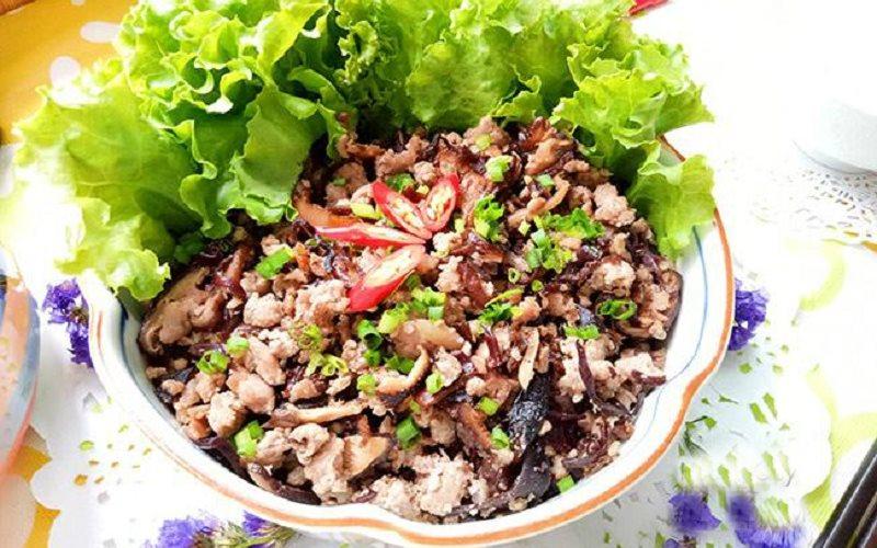 Cách làm thịt băm xào nấm