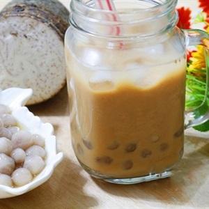 Trà sữa trân châu khoai môn