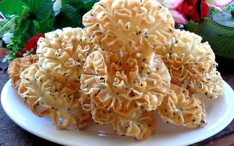 Cách làm món bánh nhúng san hô độc đáo
