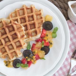 Cách làm Belgian Waffle bằng chảo nướng đơn giản thơm ngon