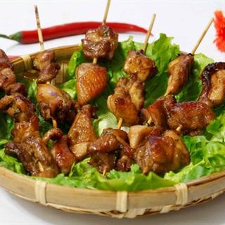 Cách làm thịt gà nướng xiên que