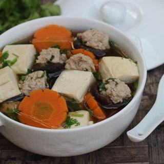 Cách làm canh đậu hũ thịt viên