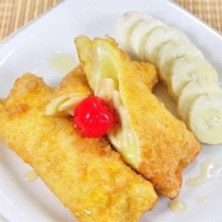 Bánh mì chuối cuộn phô mai