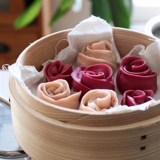 Há cảo hoa hồng hấp