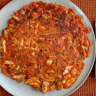 Bánh pancake đậu xanh kiểu Hàn Quốc