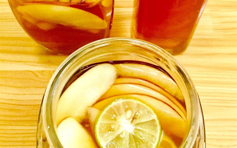 Cách làm trà táo mật ong