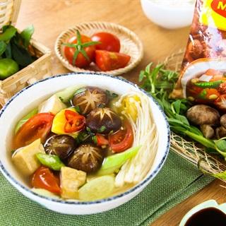 Cách nấu Canh chua nấm chay thanh nhẹ