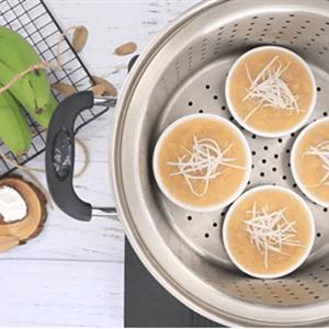 Bánh chuối hấp kiểu Thái