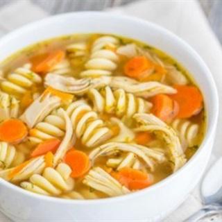 Cách làm soup nui gà xé