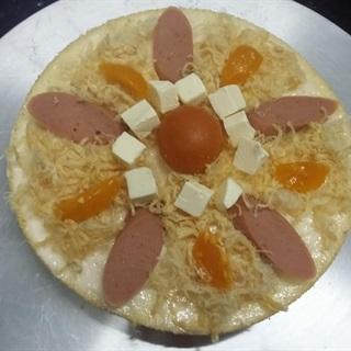 Cách làm Bánh bông lan trứng muối phô mai