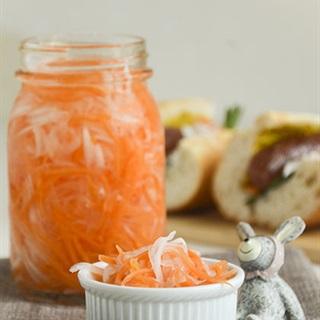 Cách làm Củ cải và cà rốt ngâm chua