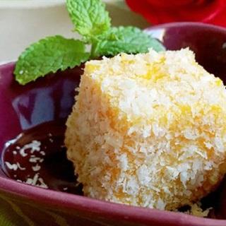 Bánh sữa bí đỏ vụn dừa