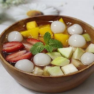 Cách làm chè hoa quả trân châu ngũ sẵc