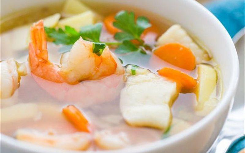 Cách làm Soup tôm cá kiểu Nga