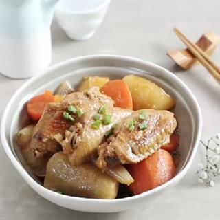 Cánh gà om củ cải trắng