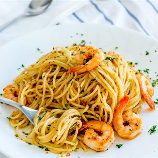 Spaghetti tôm hấp dẫn