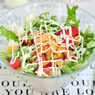 Salad rau quả đơn giản