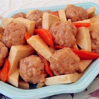 Cách làm thịt viên rim đậu hũ