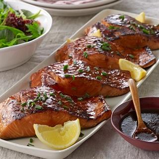 Cách làm Cá hồi nướng sốt BBQ