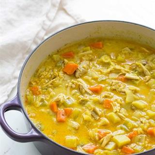 Soup cà ri gà