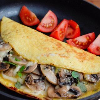 Cách làm trứng chiên nấm phô mai