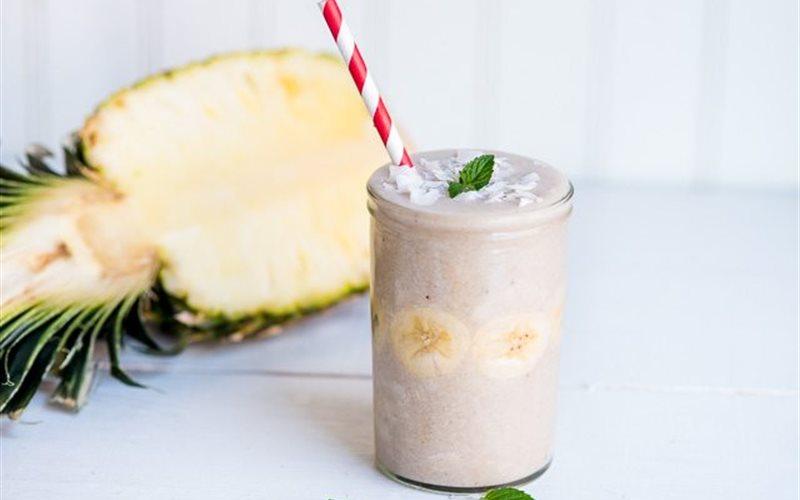 Cách làm Sinh tố dừa chuối thơm