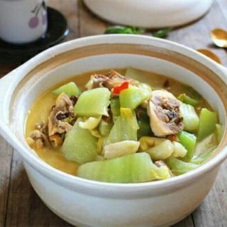 Canh cải thảo nấu thịt gà