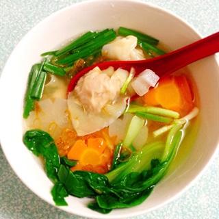 Cách làm súp hoành thánh tôm thịt