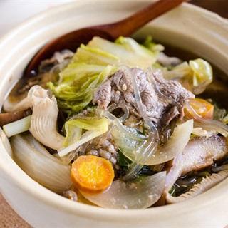 Cách làm lẩu miến bò Hàn Quốc