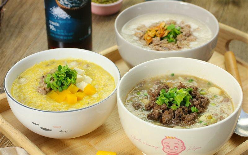 Cách nấu Cháo đậu xanh hạt sen 3 loại topping