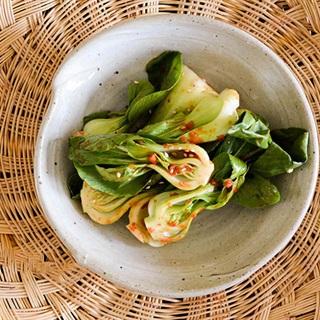 Salad cải thìa đơn giản