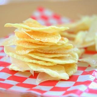 Snack khoai tây không dầu bằng lò vi sóng