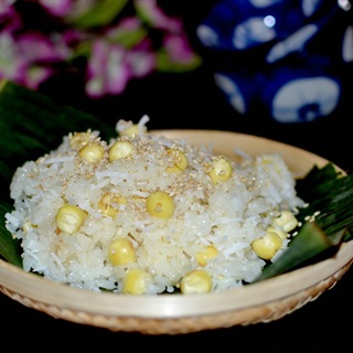 Cách làm xôi dừa nấu hạt sen