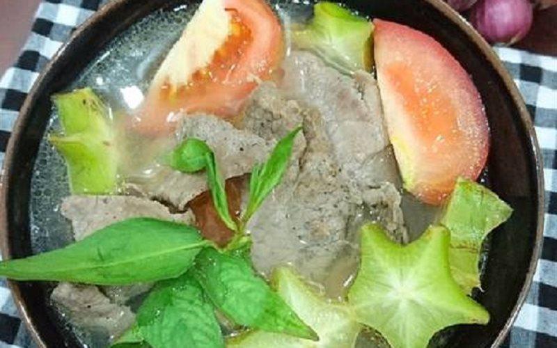 Cách làm canh thịt bò nấu khế thơm ngon
