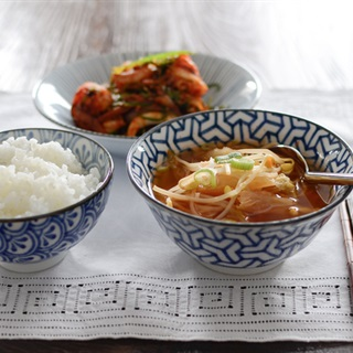 Cách làm Canh giá đỗ kimchi