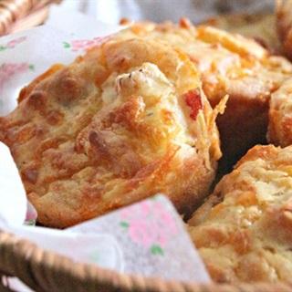 Cách làm bánh muffins jambon phô mai