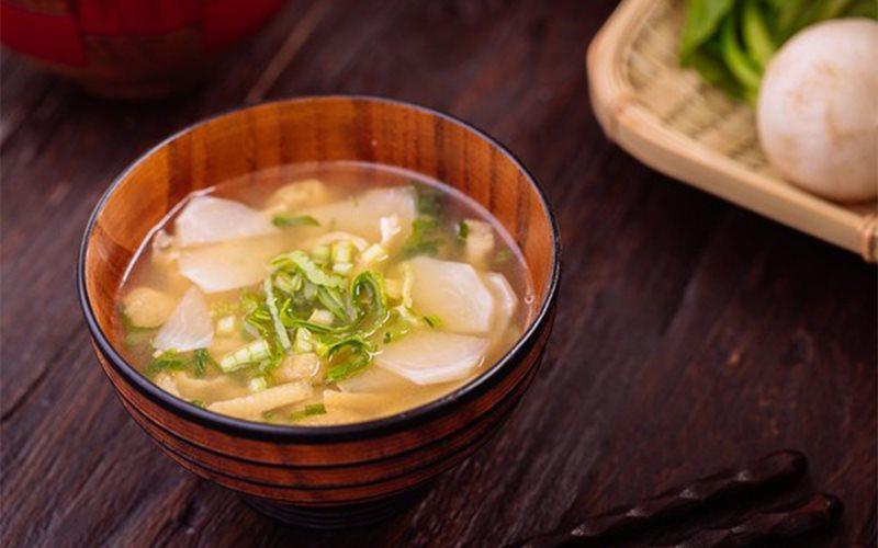 Cách làm súp miso rau củ