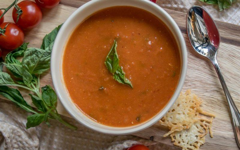 Súp cà chua nướng đơn giản