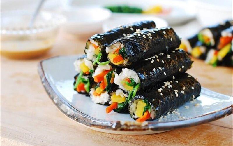 Cách làm Kimbap mini