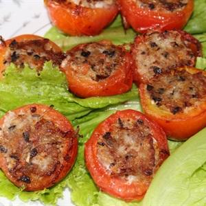 Cà chua nhồi thịt chiên giòn
