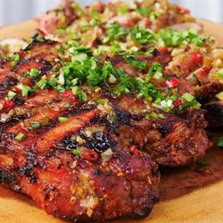 Cách làm thịt nướng ớt sả cay giòn