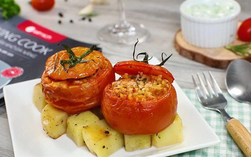 Cách làm Cà Chua Nhồi Thịt thơm ngon chuẩn vị nhà hàng Âu