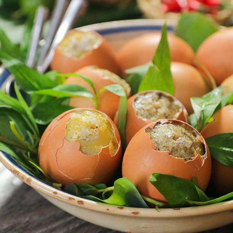 Trứng gà nướng
