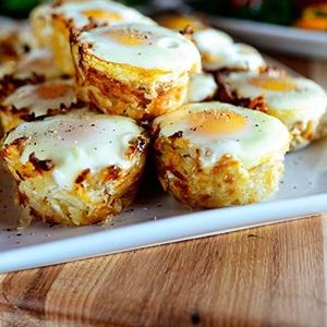 Bánh tổ chim khoai tây trứng
