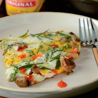 Cách làm trứng chiên rau củ thịt nguội