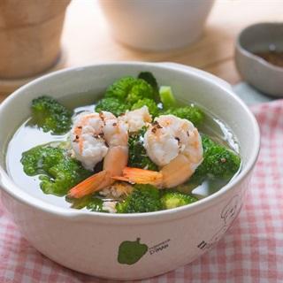 Cách làm Canh súp lơ nấu tôm tươi